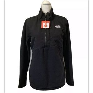 The north face woman black tundra pullover SzL NWT